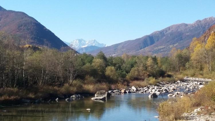 Panorama con catena Monte Rosa
