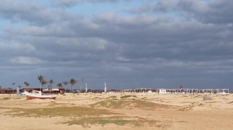 spiaggia e nuvole Capo Verde