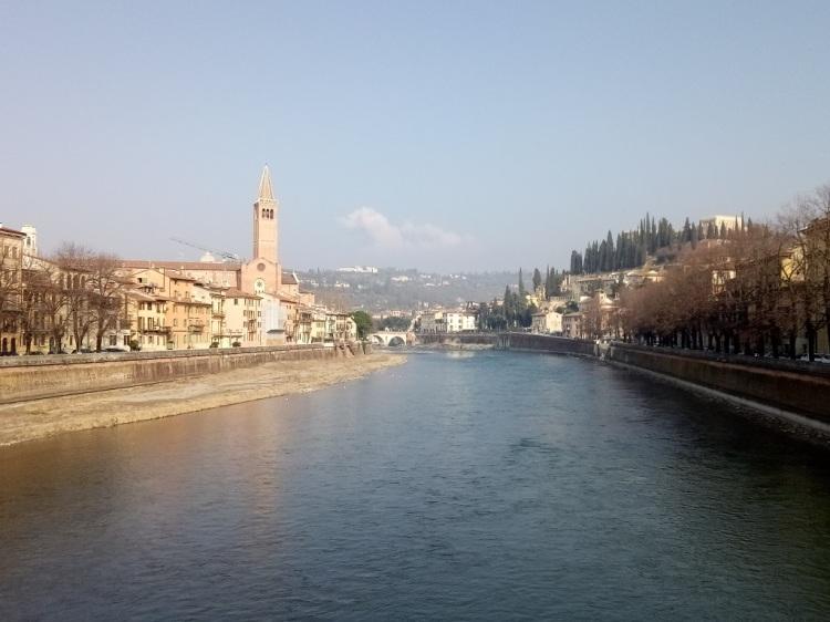 Veduta dal Ponte Nuovo - Verona
