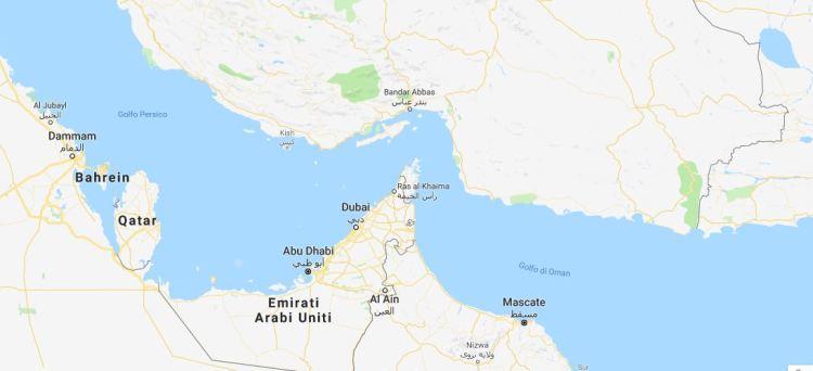 cartina Dubai
