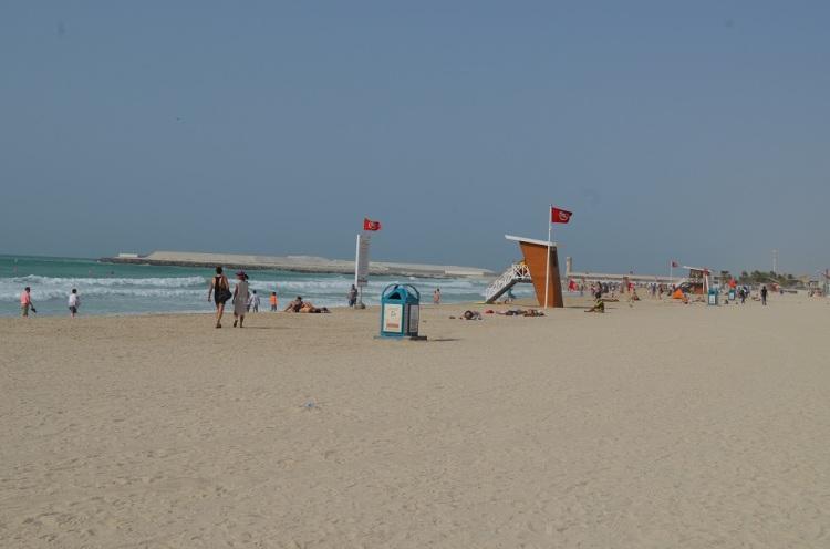 Spiaggia nei pressi di Burj Al Arab Dubai