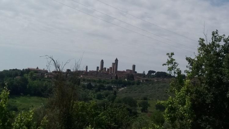 Arrivo a San Gimignano