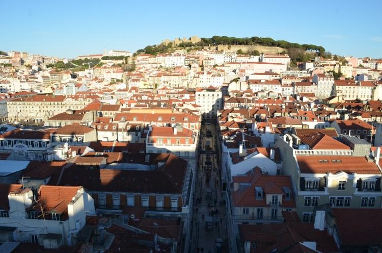 panorama da Santa Justa Lisbona