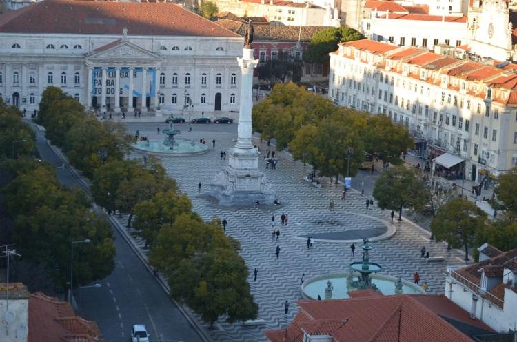 Piazza Dom Pedro IV Lisbona