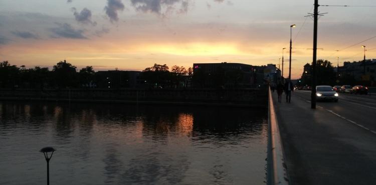 Tramonto sul fiume VIstola
