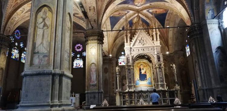 Tabernacolo dell'Orcagna interno Chiesa Orsanmichele