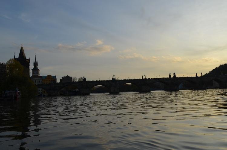Tramonto e Ponte Carlo a Praga