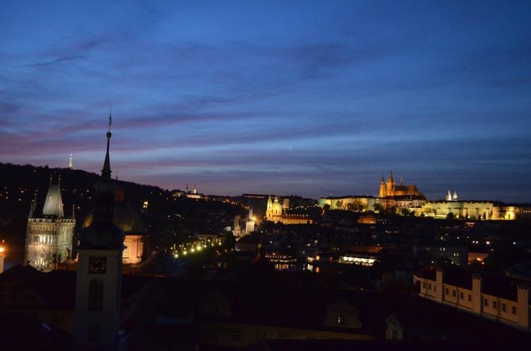 Panorama dalla torre astronomica di Praga