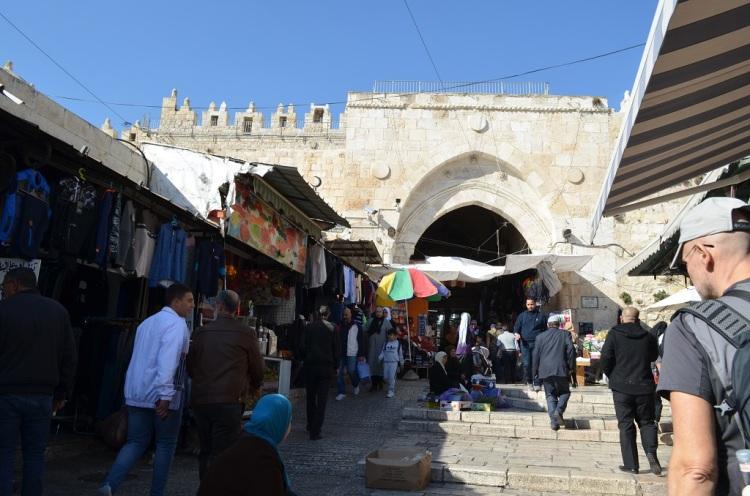 Porta di Damasco e mercato - Gerusalemme
