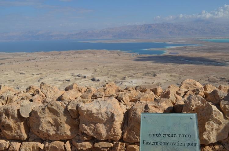 il Mar Morto visto da Masada