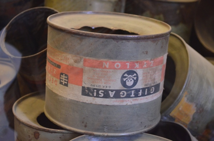 Oggetti esposti all'interno dei blocchi - Auschwitz