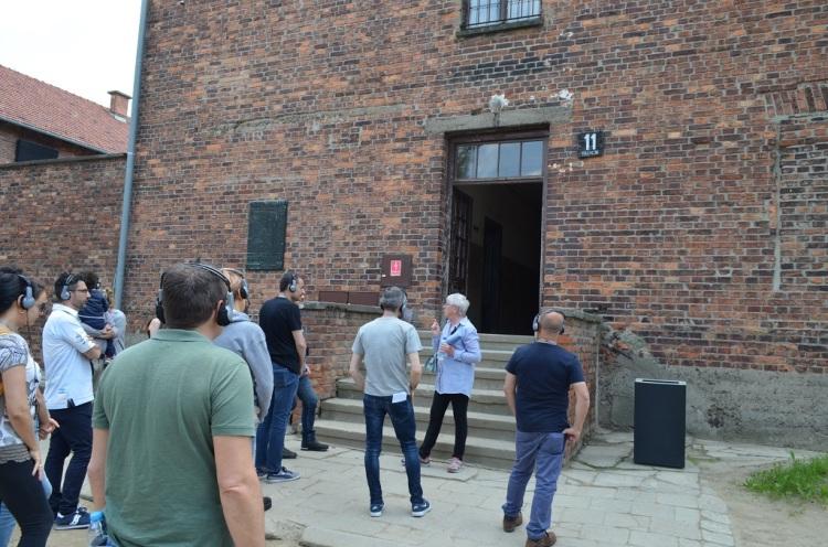 ingresso del blocco 11  Auschwitz