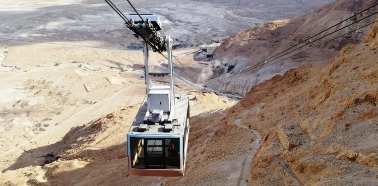 Accesso a Masada con la funivia