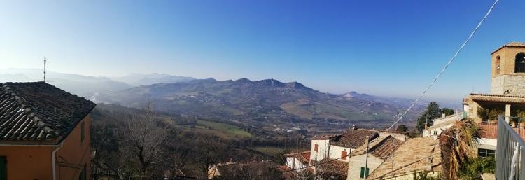 Panorama della Valmarecchia