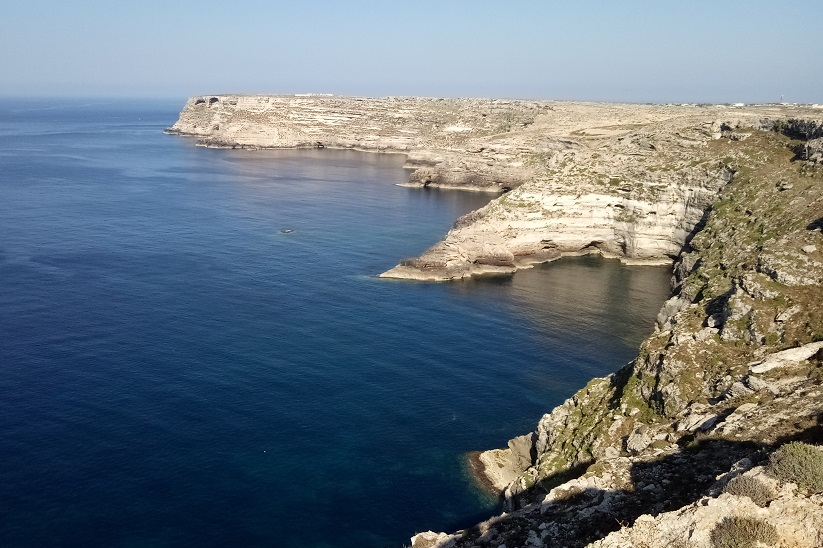 Le scogliere di Lampedusa